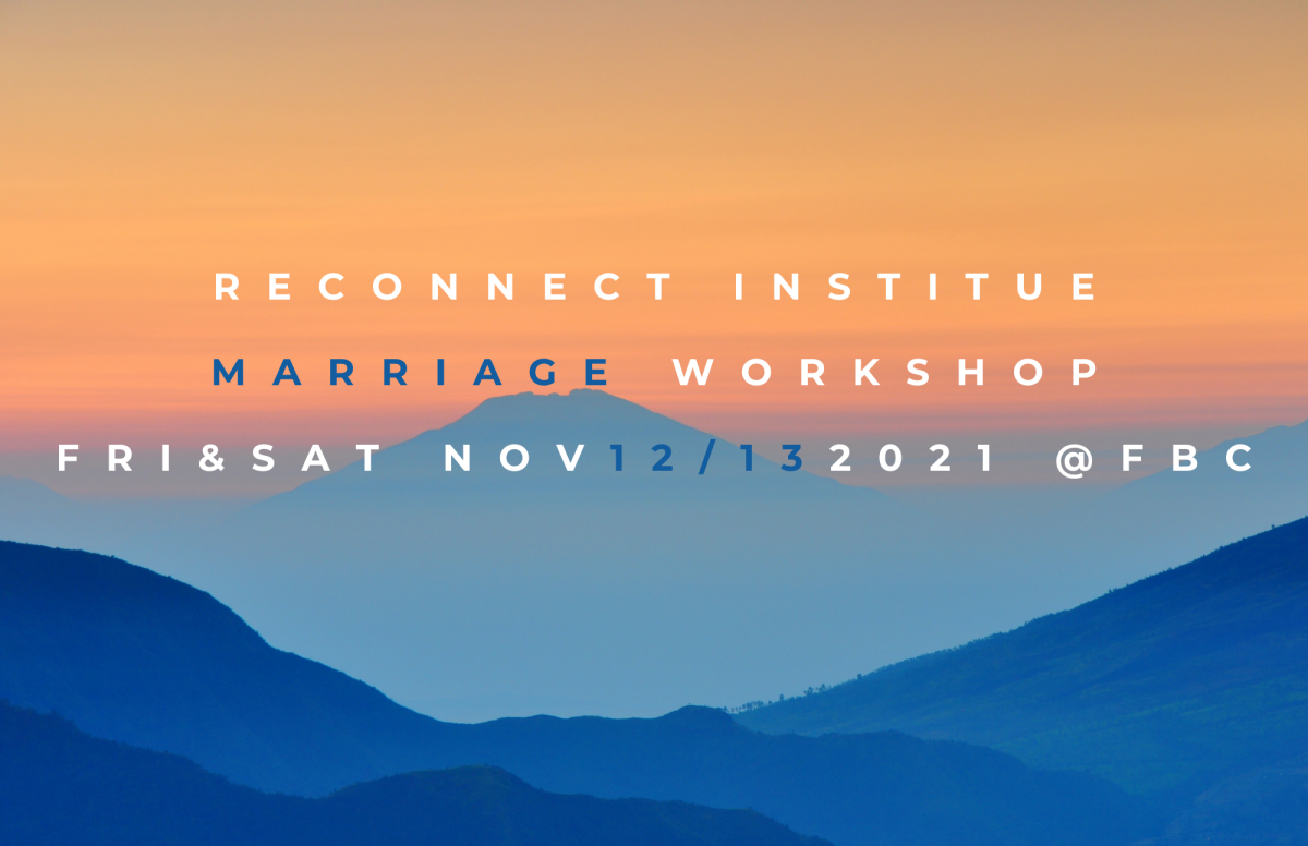 Reconnect Institute Marriage Workshop